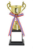 Champion gold trophy isolated With clipping path Stock Photos
