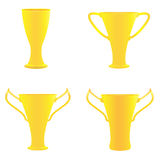 Champion golden trophies. Illustration of champion golden trophies Stock Photography