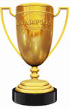 Champion golden trophy Stock Image
