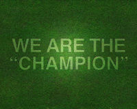We are the champion on grass Stock Image