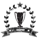 Champion. Image of a  championship trofee with grunge effect Royalty Free Stock Photography