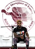 Champion Jarrett Hurd de boxe photos stock