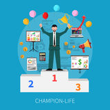 Champion Life Concept Stock Image