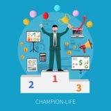 Champion Life Concept Stock Image
