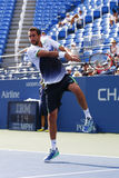 Champion Marin Cilic de l'US Open 2014 de Croatie pendant le match 4 rond de l'US Open 2014 Images stock