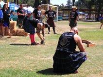 Champion Matt Vincent du monde disposant à jeter photos stock