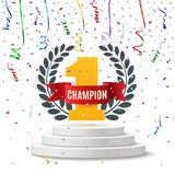 Champion, number one background. Royalty Free Stock Images