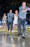 Champion olympique dans la figure patinage Alexei Yagudin. Photographie stock libre de droits