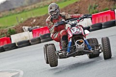 Champion quad rider Stock Images