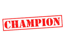 CHAMPION. Red rubber Stamp over a white background Royalty Free Stock Photo