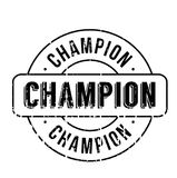 Champion rubber stamp Royalty Free Stock Photography