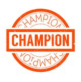 Champion rubber stamp Royalty Free Stock Image