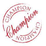 Champion rubber stamp Stock Photography
