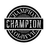 Champion rubber stamp Royalty Free Stock Images