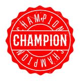 Champion rubber stamp Stock Images