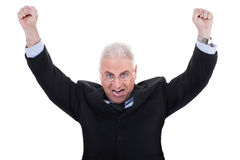Champion senior business man Royalty Free Stock Photos