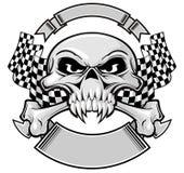 Champion skull vector illustration