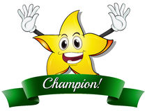 A champion star. Illustration of a champion star on a white background Stock Photos