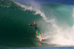 Champion Surfer Mick Fanning Surfing Hawaii Stock Photo