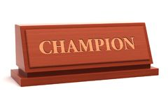 Champion title Stock Photo