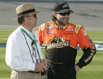 Champion Tony Stewart de NASCAR photos libres de droits
