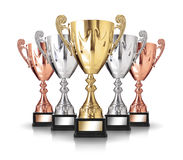 Champion trophies Stock Photo