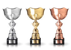 Champion trophies Royalty Free Stock Photos