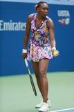 Champion Venus Williams de Grand Chelem des Etats-Unis dans l'action pendant son match du rond 4 à l'US Open 2016 Photos stock