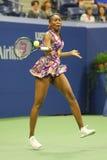 Champion Venus Williams de Grand Chelem des Etats-Unis dans l'action pendant son match du rond 3 à l'US Open 2016 Photographie stock