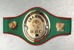 Champion WBC de boxe de ceinture du monde Image libre de droits