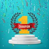 Champion, winner, number one background. Royalty Free Stock Photos