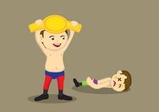 Champion Wrestler Vector Cartoon Illustration Stock Photo