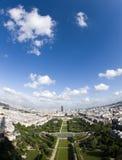 Championde Luftaufnahmeparis-Frankreich beschädigt Park Stockbilder
