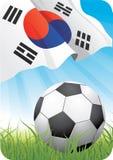 Championnat 2010 du football du monde - République de la Corée Photo libre de droits