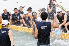 Championnat 2012 de bateau de dragon de Hong Kong Int'l Photo libre de droits