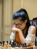 Championnat d'échecs du monde des femmes Lviv 2016 Photo stock
