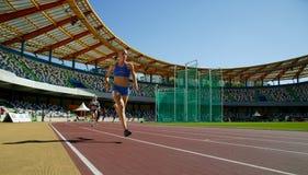 Championnat d'athlétisme, Caroline Durte Image stock
