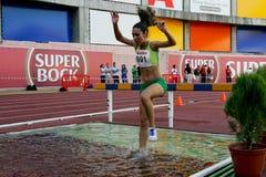 Championnat d'athlétisme, Catarina Carvalho Photo libre de droits