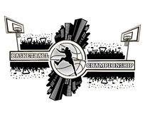 Championnat de basket-ball de logo Photographie stock libre de droits