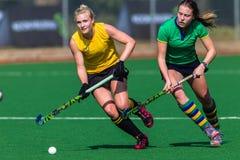 Championnat de défi d'action de filles d'hockey image stock