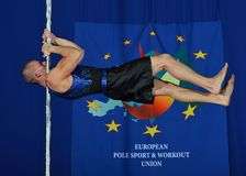 CHAMPIONNAT DE DANSE DE L'EUROPE POLONAIS D'HOMMES Photo stock