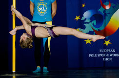CHAMPIONNAT de DANSE de POLONAIS - junior Photo stock