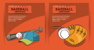 Championnat de jeu de baseball Illustration de Vecteur