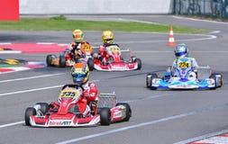 Championnat de Karting d'Européen de CIK-FIA image libre de droits