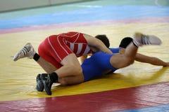 Championnat de lutte Photographie stock