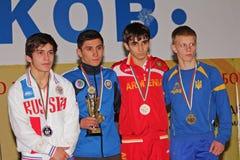 Championnat de lutte de cadet de 2014 Européens Photos libres de droits