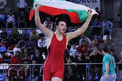 Championnat de lutte de cadet de 2014 Européens Images libres de droits