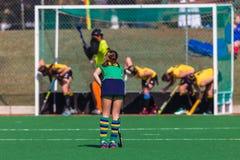 Championnat de ressortissant de défi d'action de filles d'hockey photo stock