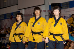 Championnat de Taekwondo Poomsae du monde de WTF Photos stock