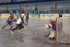 Championnat du monde d'hockey de boule dans Dmitrov 12-17 06 2018 photo stock